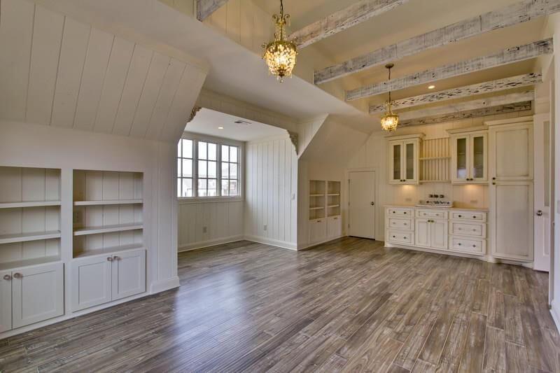 hardwood in bonus room